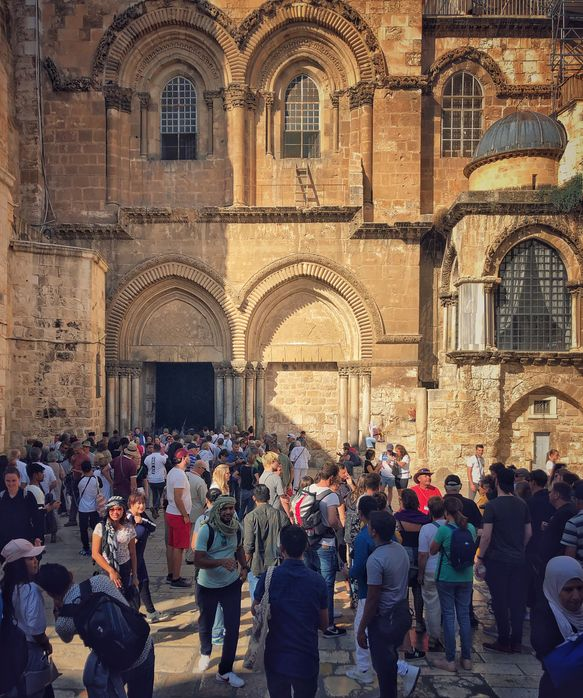 Intrarea în Biserica Sfântului Mormânt
