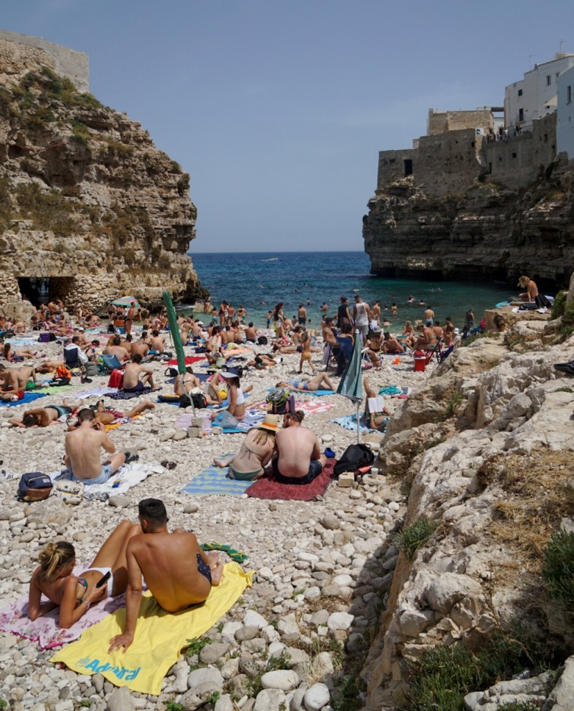 plaja Polignano a Mare